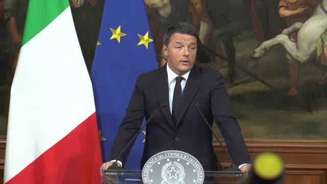italian prime minister matteo renzi holds a press conference after the results of the referendum on constitutional reforms at palazzo chigi in rome... - referendum stock videos and b-roll footage
