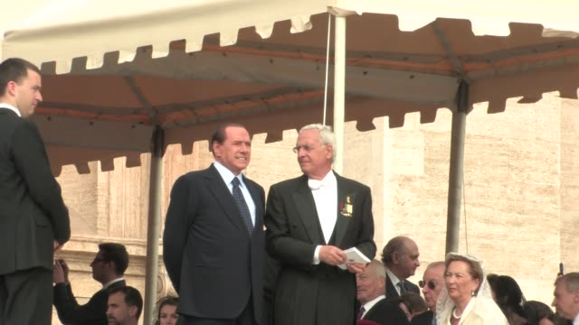 Italian Prime Minister Silvio Berlusconi The Beatification of Pope John Paul II at Saint Peter's square on May 01 2011 in Vatican City Vatican
