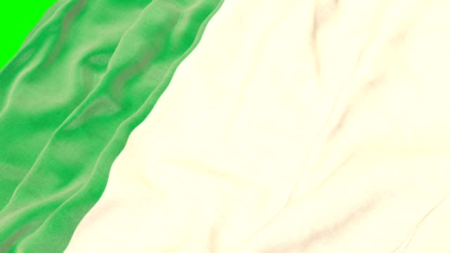 italian stadium flag. waving on green screen. camera movin away - italian flag stock videos and b-roll footage
