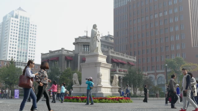 italian style street, tianjin, china - tianjin stock videos & royalty-free footage
