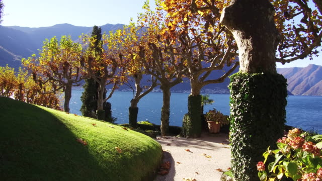 Italian Villa and gardens on Lake Como