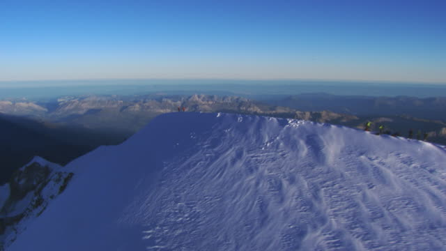 italy, aosta valley: mount blanc with people - mont blanc stock videos & royalty-free footage