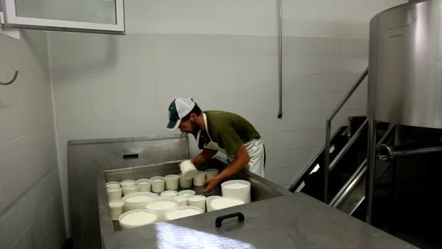 "italy, cavalese, dairy, making cheese ""ricotta"" - カバレーゼ点の映像素材/bロール"