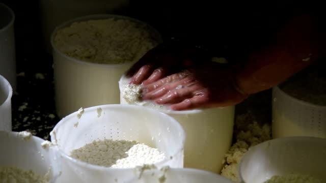 """vídeos y material grabado en eventos de stock de italy, cavalese, dairy, making cheese """"ricotta"""" - queso"""