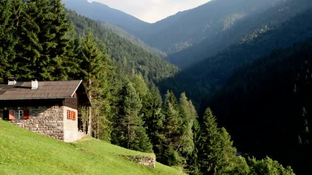 italy, cavalese, floriana valley - カバレーゼ点の映像素材/bロール