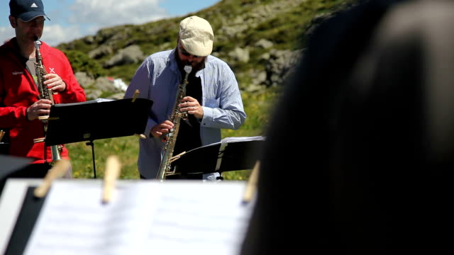 """italy, cavalese, the show """"sounds of the dolomites"""" - カバレーゼ点の映像素材/bロール"""