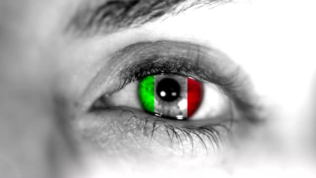 italy eye. hd - italian flag stock videos and b-roll footage