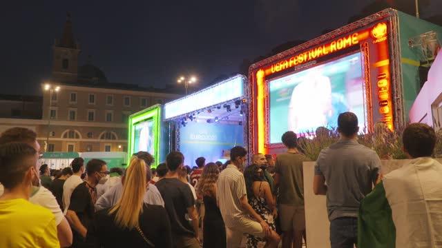 ITA: Fans watch Italy v Switzerland - UEFA Euro 2020: Group A