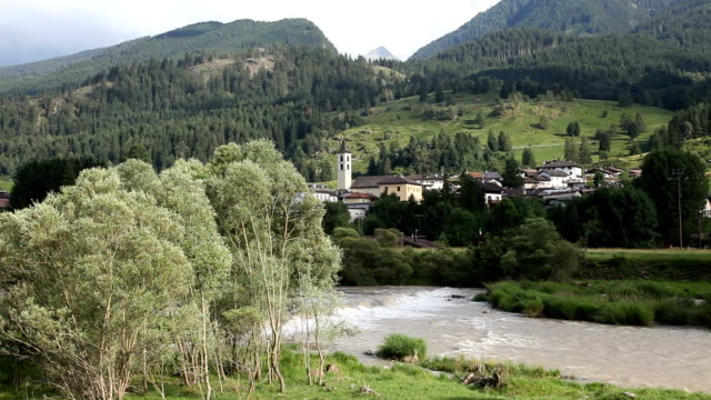 italy, fiemme valley, view of masi village - カバレーゼ点の映像素材/bロール