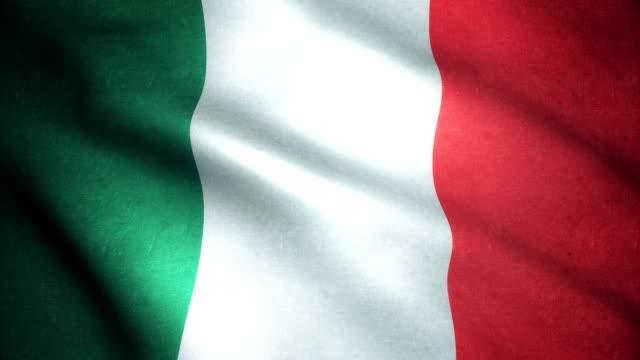 italien-flagge 4k - italienische flagge stock-videos und b-roll-filmmaterial