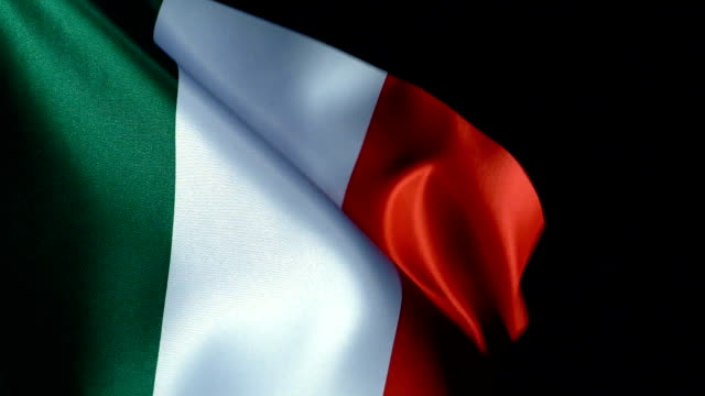 italy flag flapping - europa continente video stock e b–roll