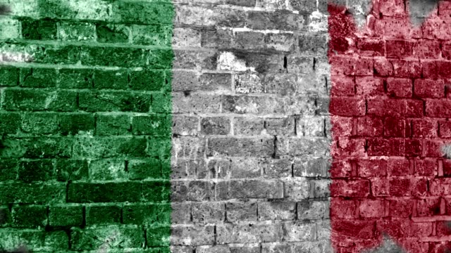 italy flag grunge wall. 4k - italian flag stock videos and b-roll footage
