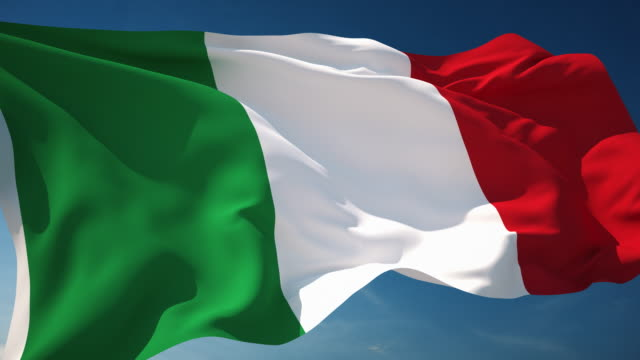 4K Italy Flag - Loopable