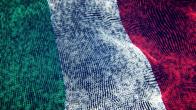 Italy Flag Particle Digital Flag Loopable 4K