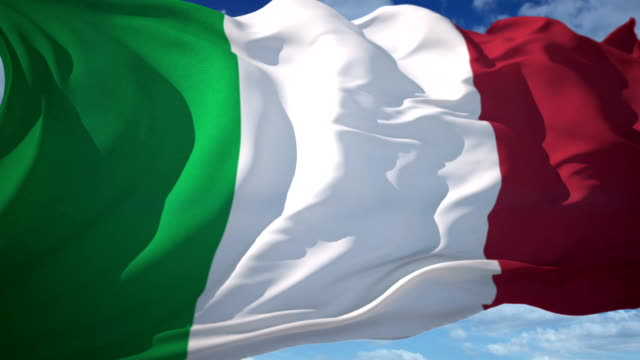 italy flag - national flag stock videos & royalty-free footage