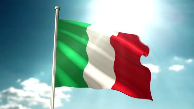italien-flagge - italienische flagge stock-videos und b-roll-filmmaterial