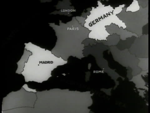 italy & germany highlighted. - germany stock videos & royalty-free footage