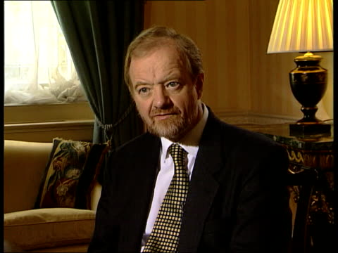 international criminal court proposal england london robin cook mp intvw this will be strong court with wide range of powers / it means saddam... - international court of justice stock videos and b-roll footage