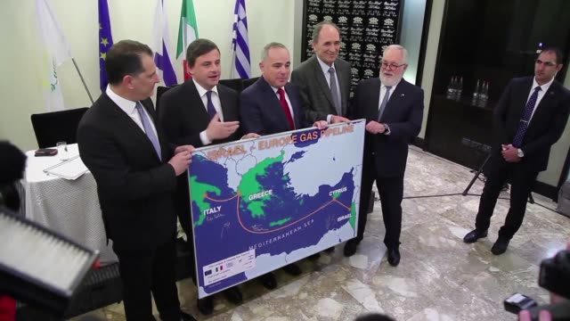 italy israel greece and cyprus pledged monday to move ahead with the world's longest undersea gas pipeline from the eastern mediterranean to southern... - southern european stock videos & royalty-free footage