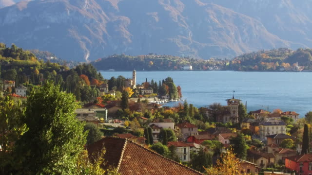 italy, lake of como - lago video stock e b–roll