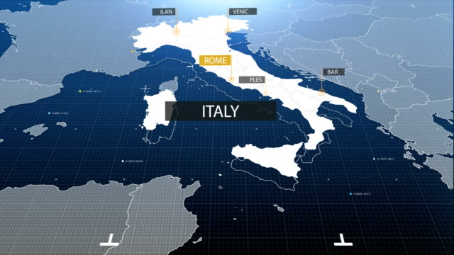 italy map with label then with out label