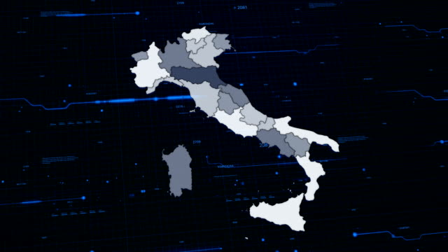 Italy network map