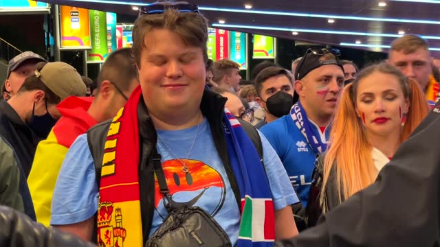 italy reached the euro 2020 final after beating spain in a penalty shootout tuesday, july 6. fans at london's wembley stadium witnessed a tight match... - resting stock videos & royalty-free footage