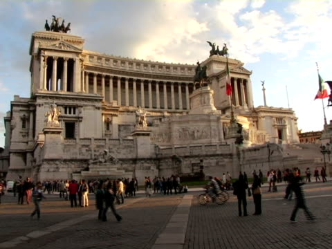 ms, italy, rome, monument of victor emmanuel ii - italy stock videos & royalty-free footage