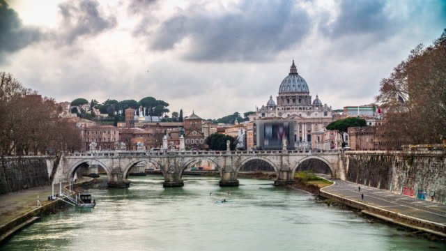 italy, rome, st. peters basilica vatican - state of the vatican city stock videos and b-roll footage
