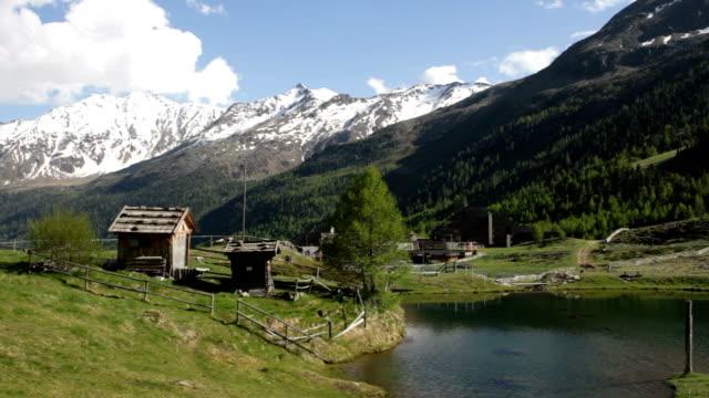 Italy, Schnalstal, Senales valley, view of Maso Corto