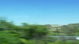 italy summer day landscape background train passenger window plate 4k veneto