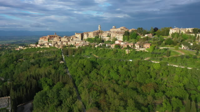 italy, tuscany, siena province, montepulciano and sanctuary san biagio - toscana video stock e b–roll