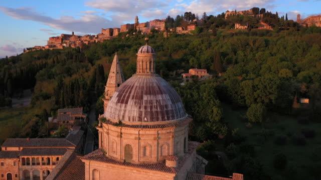 italy, tuscany, siena province, montepulciano and sanctuary san biagio - montepulciano stock videos & royalty-free footage