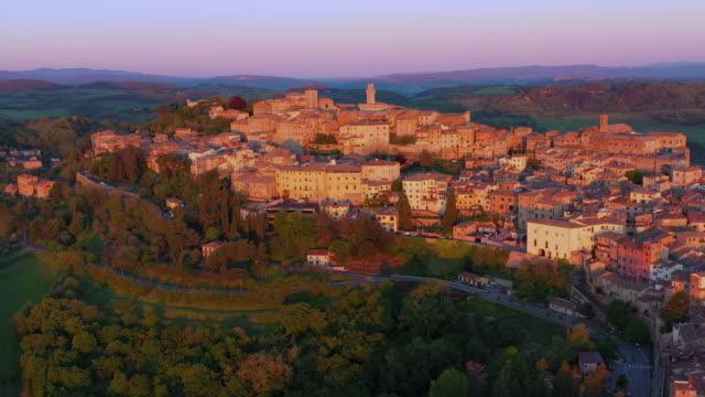 italy, tuscany, siena province, montepulciano - montepulciano stock videos & royalty-free footage