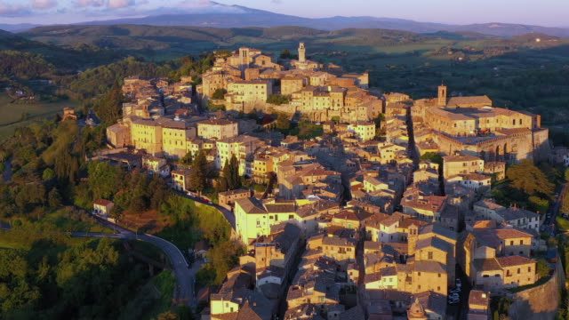 italy, tuscany, siena province, montepulciano - town stock videos & royalty-free footage