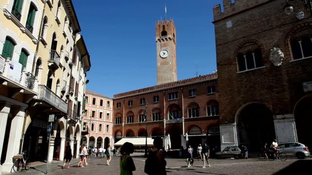 italy, veneto, treviso, the town and the sile river - イタリア点の映像素材/bロール