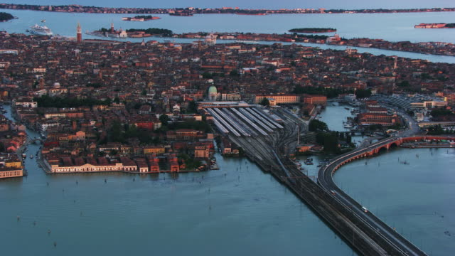 Italy, Venice: Aerial view of Santa Croce