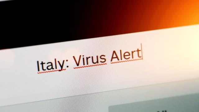 italy: virus alert - cursor stock videos & royalty-free footage