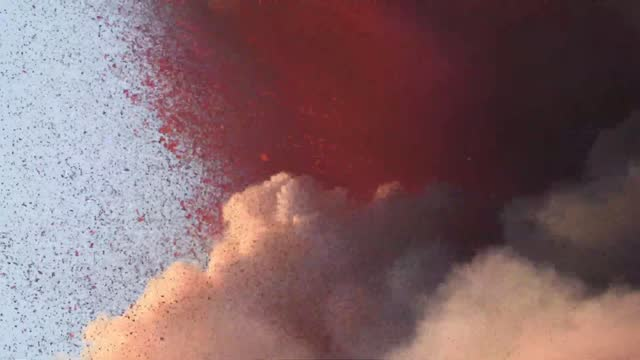 italy's mount etna erupted on august 29 spewing ash and lava after... - volcano stock videos & royalty-free footage