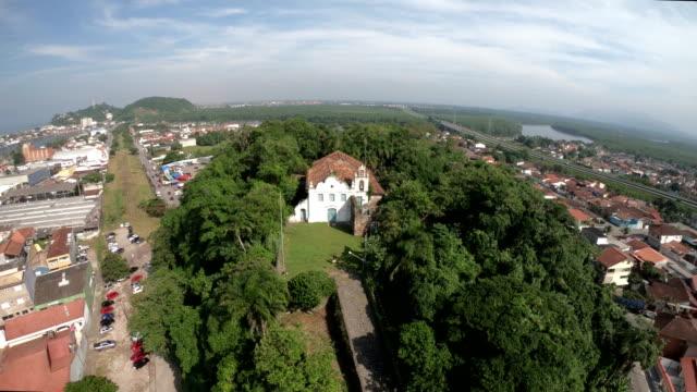 itanhaém convent-brazil - convent stock videos & royalty-free footage