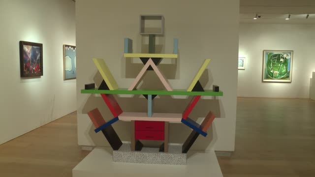 atmosphere items by ettore sottsass and others from david bowie's private collection at bowie/collector media preview at sotheby's on september 26... - サザビーズ点の映像素材/bロール