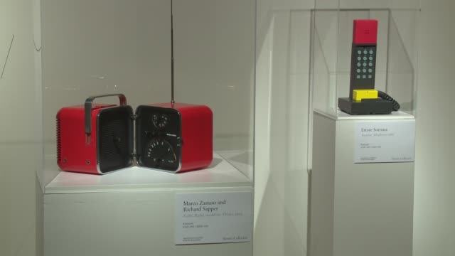 atmosphere items by ettore sottsass from david bowie's private collection at bowie/collector media preview at sotheby's on september 26 2016 in new... - サザビーズ点の映像素材/bロール