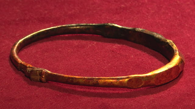items from a viking hoarde - archaeology stock videos & royalty-free footage