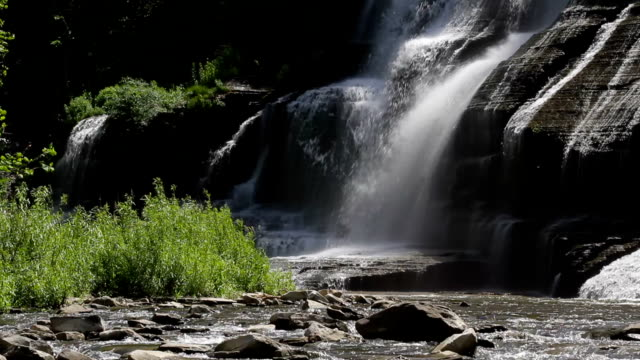 ithaca falls base hd - cayuga stock videos & royalty-free footage