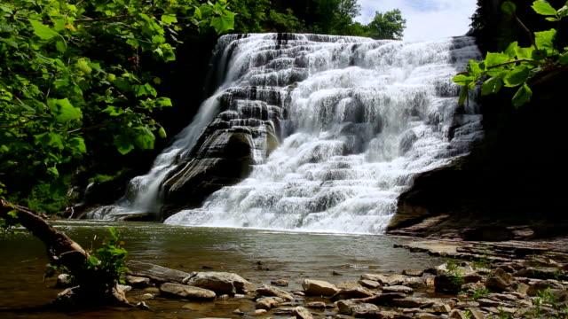 ithaca falls grandeur - cayuga stock videos & royalty-free footage