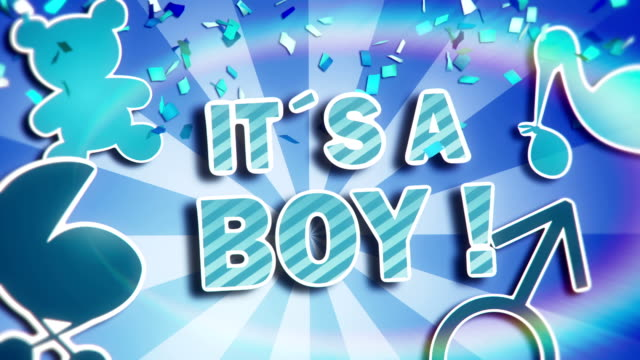 it´s a baby boy - announcement message stock videos & royalty-free footage