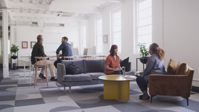 it's a creative place that leads to increased engagement and interaction - employee engagement video stock e b–roll