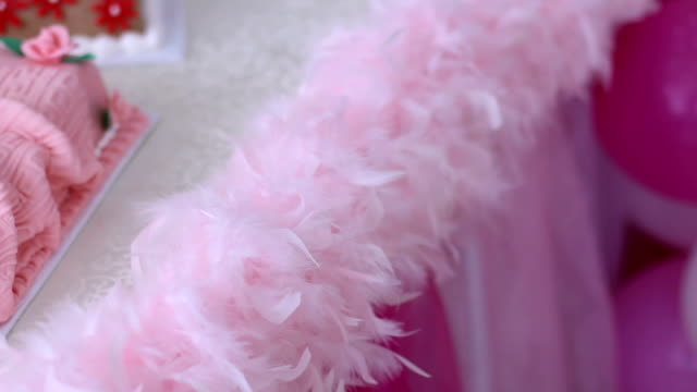 its a girl pink theme baby shower - it's a girl stock videos & royalty-free footage
