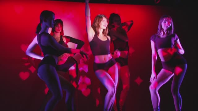 """it's a mixture of stress and excitement, and i can't wait"""": crazy girl coco vanille, a dancer at legendary parisian cabaret crazy horse, can't wait... - authority stock videos & royalty-free footage"""