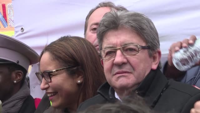 it's a very big chapter that is about to begin in our country's social history says french far left leader jean-luc melenchon as he joins tens of... - social history stock videos & royalty-free footage